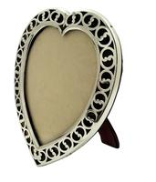 """Antique Victorian Sterling Silver & Tortoiseshell 7"""" Heart Photo Frame 1894 (7 of 10)"""