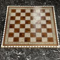 Rosewood bone and mother of Pearl chess board (6 of 7)