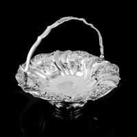 Magnificent Large Georgian Solid Silver Basket with Floral Motifs - Joseph & John Angell 1835 (48 of 55)
