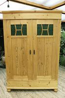 Fabulous Old Pine Knock Down 'arts & Crafts' Double Wardrobe  - We Deliver & Assemble! (16 of 16)