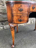 Antique Burr Walnut Kidney Shaped Dressing Table (2 of 12)