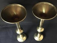 Pair of Tall Brass 19th Century Church / Altar Candlesticks (2 of 6)