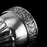Antique Solid Silver Goblet / Cup with Roman Frieze - Elkington & Co 1902 (13 of 16)