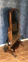 Victorian Walnut Cheval Mirror (4 of 12)