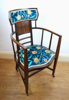 Arts & Crafts Inlaid Armchair by J S Henry 'London' (2 of 9)