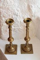 18th Century Georgian Brass Candlesticks (9 of 10)