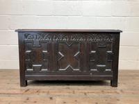 Antique Oak Coffer Blanket Box (4 of 11)