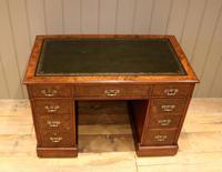 Late 19th Century Burr Walnut Pedestal Desk (8 of 11)