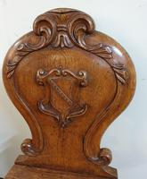 Victorian Oak Armorial Hall Chair (7 of 7)