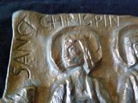 Mid Century Bronze Plaque - Saint Chrispin & Chrispinian- European School (5 of 6)