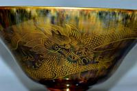 Wedgwood Dragon & Butterfly Lustre Ogee Shaped Pedestal Bowl (9 of 9)