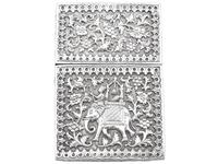 Indian Silver Card Case - Antique c.1880 (2 of 9)