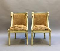 Pair of Empire French Painted Chairs (6 of 10)