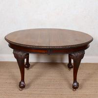 Oak Dining Table & 6 Chairs Telescopic 19th Century (9 of 19)