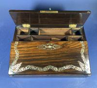 William IV Rosewood Lap Desk, Inlaid with Mother of Pearl (11 of 14)