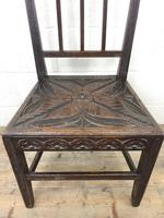 Pair of Antique Carved Oak Hall Chairs (8 of 13)