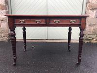 Antique Mahogany Two Draw Writing Table (2 of 11)