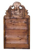 Queen Anne Style Walnut Cushion Mirror (3 of 4)