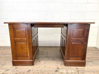 Antique Oak Pedestal Desk (10 of 10)
