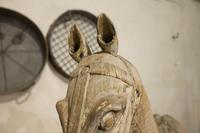 Large 19th Century Carved Indian Horse - Original Paint (10 of 14)
