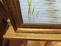 Oil on Canvas Study of a Kingfisher Listed Artist Geoffrey Campbell Black (2 of 10)
