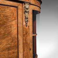 Antique Credenza, English, Burr Walnut, Sideboard, Display Cabinet, Regency (10 of 12)