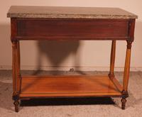 Louis XVI Console in Cherrywood, 18th Century Stamped LM Pluvinet (11 of 15)