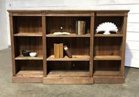 Oak Breakfront Open Bookcase (3 of 20)