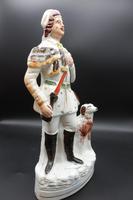 Late 19th Century Staffordshire Flatback Figure of Huntsman & Dog (2 of 5)