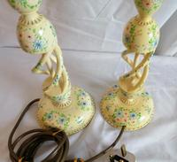 Pair of Kashmir Painted Lamps (4 of 6)