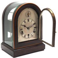 Mahogany & Bevelled Glass W&H Mantel Clock Dual Chiming Musical Bracket Clock Chiming on 8 Coiled Gongs (4 of 10)