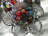 2 Italian Murano 20th Century Fratelli & Torso Millefiori Glass Vases (4 of 15)