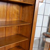 Oak Leaded Glazed Bookcase Arts & Crafts (10 of 10)