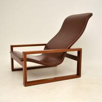 Vintage 1960's Leather & Rosewood Armchair (3 of 12)