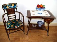 Arts & Crafts Inlaid Armchair by J S Henry 'London' (9 of 9)