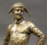 Bronze Figure of a Harlequin by Emile Laporte (6 of 6)