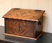 Solid Oak Carved Box (3 of 8)