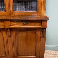 Quality Victorian Mahogany Glazed Antique Bookcase on Cupboard (5 of 9)