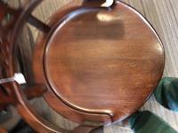 Good Quality Mahogany Swivel Desk Chair (3 of 7)