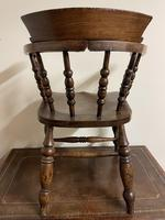Victorian Ash & Elm Smokers Bow Chair (3 of 8)