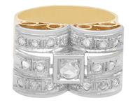 0.33ct Diamond & 18ct Yellow Gold Dress Ring - Art Deco - Vintage c.1940 (4 of 9)