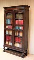Tall Oak Glazed Bookcase (8 of 10)