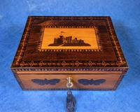 William IV Early Mosaic Tunbridge Ware Table Box (4 of 20)