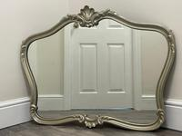 Beautiful French Regency Style Glass Silver Acanthus Crown Overmantle Mirror (8 of 23)