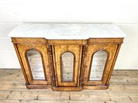 Victorian Inlaid Walnut Credenza with Marble Top (3 of 10)