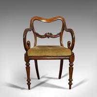 Antique Scroll Armchair, English, Mahogany, Buckle Back, Seat, William IV, 1835 (2 of 11)