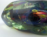 Good Maltese Mdina Art Glass Fish / Axe Head Vase Signed Dobson c.1978 (6 of 6)