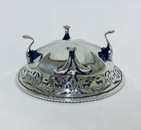 Antique Solid Sterling Silver Pierced Bonbon Dish (8 of 9)