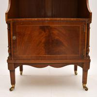 Antique Inlaid Mahogany Cascading Open Bookcase (6 of 9)