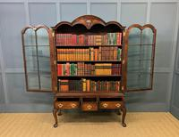 Burr Walnut Dome Topped Bookcase (10 of 18)